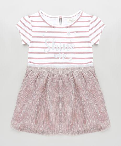 Vestido-Infantil-Listrado-com-Brilho-Manga-Curta-Rose-9818768-Rose_1