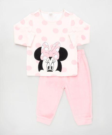 Conjunto-Infantil-Minnie-de-Blusao-Estampada-de-Poa---Calca-em-Plush-Rosa-9839841-Rosa_1
