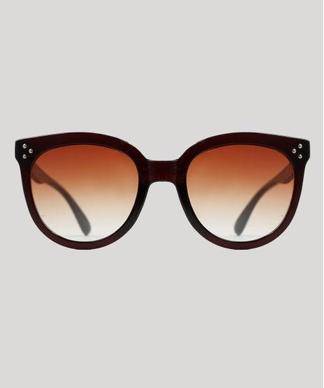 Oculos-de-Sol-Redondo-Feminino-Yessica-Marrom-Escuro-9944151-Marrom_Escuro_1