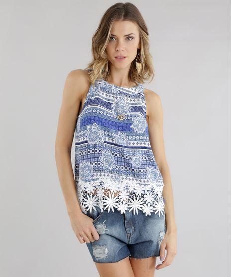 Regata-Estampada-Floral-com-Guipir-Azul-8582748-Azul_1