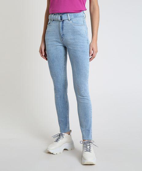 Calca-Jeans-Feminina-Skinny-Clochard-Cintura-Super-Alta-com-Cinto-Azul-Claro-9944942-Azul_Claro_1