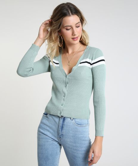 Cardigan-Feminino-Cropped-em-Trico-Verde-Claro-9823173-Verde_Claro_1