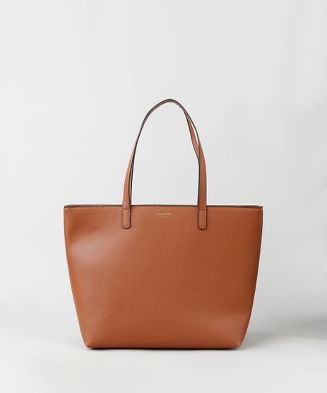 Bolsa-Feminina-Shopper-Grande-com-Alca-de-Ombro-Caramelo-9915361-Caramelo_1