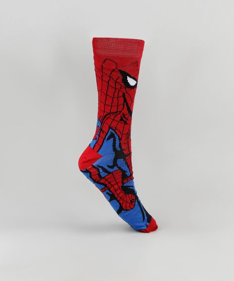 Meia-Infantil-Cano-Alto-Homem-Aranha--Vermelha-9900918-Vermelho_1