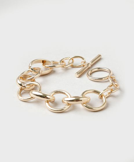 Pulseira-Feminina-em-Corrente-Dourada-9860358-Dourado_1