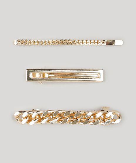 Kit-de-3-Presilhas-Femininas-Dourado-9860351-Dourado_1