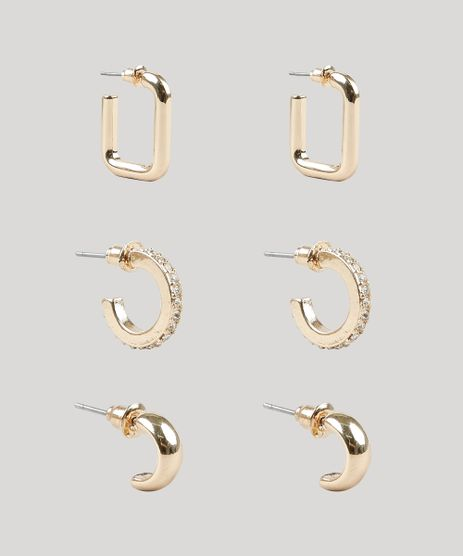 Kit-de-3-Brincos-Femininos-de-Argola-Dourado-9860352-Dourado_1