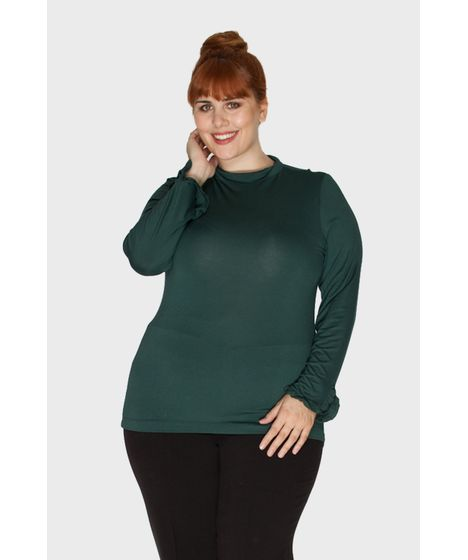 e6face182 Blusa Gola Alta Plus Size - cea