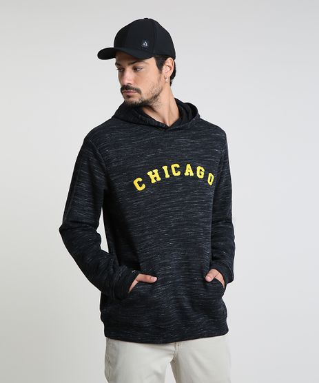 Blusao-Masculino--Chicago--em-Moletom-com-Capuz-Preto-9821211-Preto_1