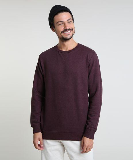 Blusao-Masculino-Basico-em-Moletom-Gola-Careca-Vinho-9829004-Vinho_1