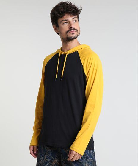 Camiseta-Masculina-Basica-Raglan-com-Capuz-Manga-Longa-Preta-9826873-Preto_1