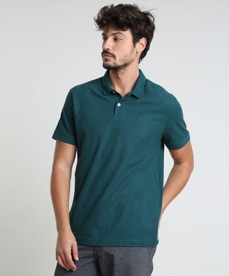 Polo-Masculina-Basica-Comfort-em-Piquet-Manga-Curta-Verde-Escuro-9449829-Verde_Escuro_1