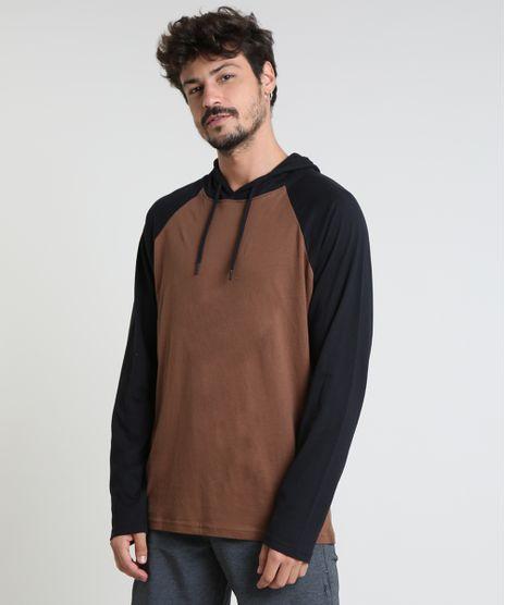 Camiseta-Masculina-Basica-Raglan-com-Capuz-Manga-Longa-Marrom-9826873-Marrom_1