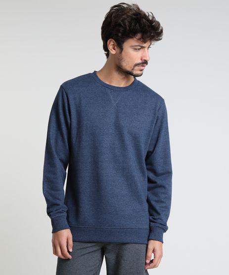 Blusao-Masculino-Basico-em-Moletom-Gola-Careca-Azul-Escuro-9829004-Azul_Escuro_1