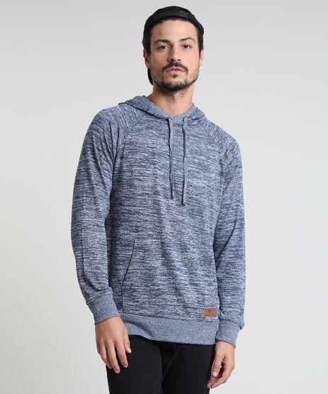Blusao-Masculino-em-Moletom-com-Capuz-e-Bolso-Azul-Escuro-9781095-Azul_Escuro_1