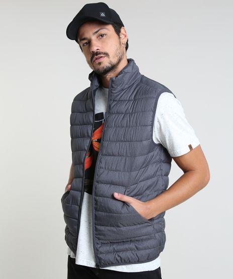 Colete-Puffer-Masculino-Basico-com-Bolsos-e-Gola-Alta-Chumbo-9785390-Chumbo_1