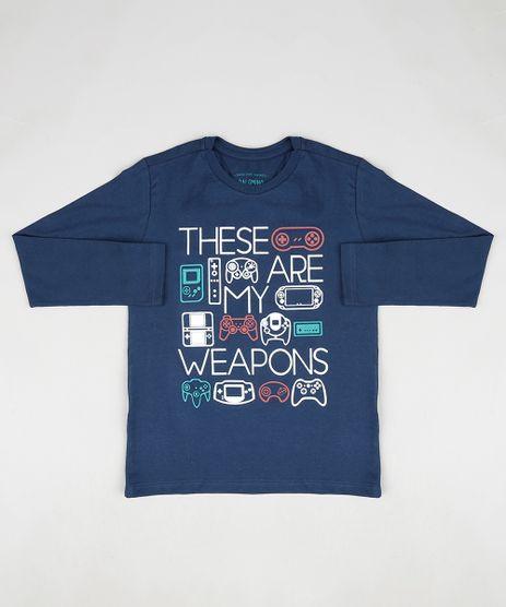 Camiseta-Infantil-Video-Games-Manga-Longa-Azul-Marinho-9883616-Azul_Marinho_1