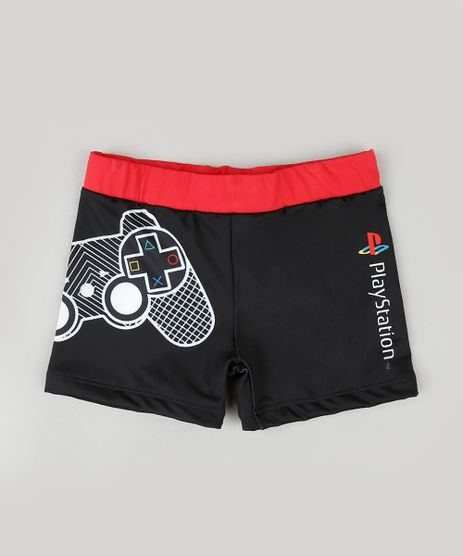 Sunga-Infantil-PlayStation-Boxer-Preta-9866933-Preto_1
