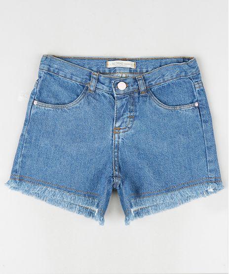 Short-Jeans-Infantil-com-Barra-Desfiada-e-Bolsos-Azul-Medio-9895593-Azul_Medio_1