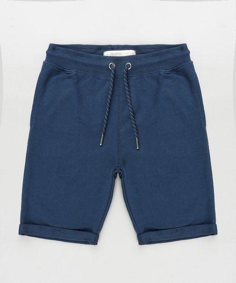 Bermuda-Infantil-em-Moletom-com-Barra-Dobrada-Azul-Marinho-9788614-Azul_Marinho_1