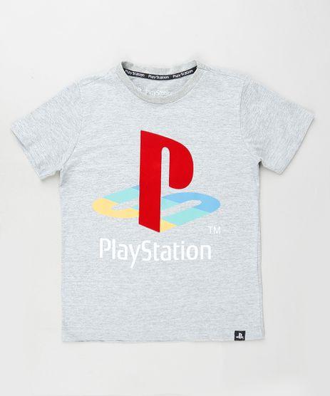 Camiseta-Infantil-PlayStation-Manga-Curta-Cinza-Mescla-9886635-Cinza_Mescla_1