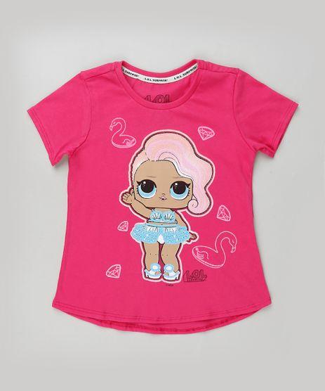 Blusa-Infantil-LOL-Surprise-com-Paetes-Manga-Curta-Pink-9923630-Pink_1