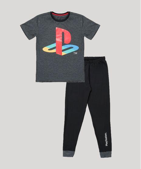Pijama-Infantil-PlayStation-Manga-Curta--Preto-9879632-Preto_1