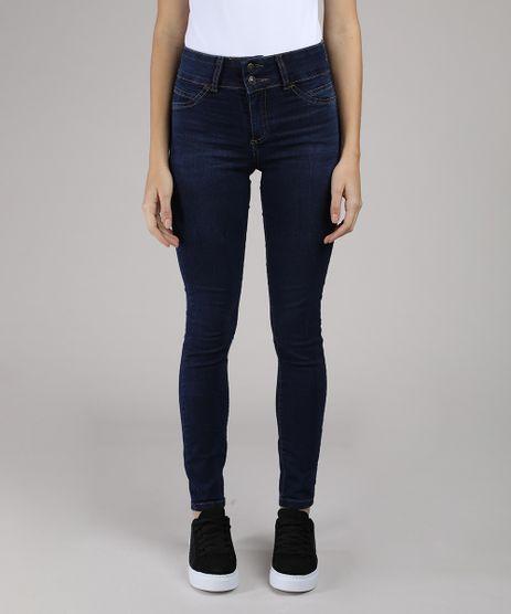 Calca-Jeans-Feminina-Super-Skinny-Pull-Up-Cintura-Alta-Azul-Escuro-9046067-Azul_Escuro_1