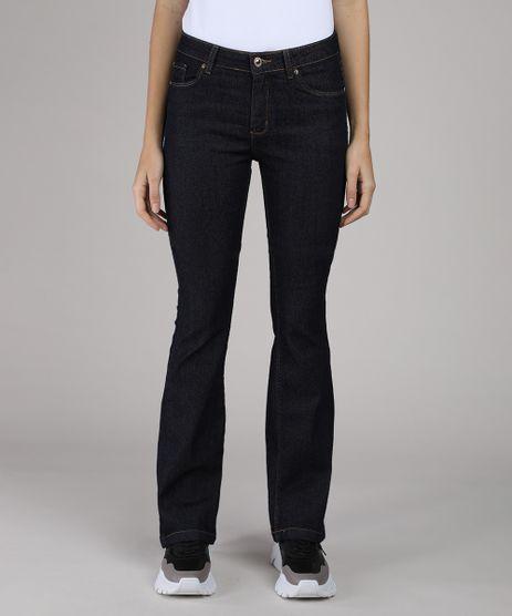 Calca-Jeans-Feminina-Flare-Cintura-Alta-Azul-Escuro-9555347-Azul_Escuro_1