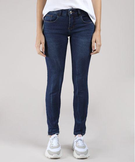 Calca-Jeans-Feminina-BBB-Super-Skinny-Cintura-Media-com-Ziper-na-Barra-Azul-Escuro-9689842-Azul_Escuro_1