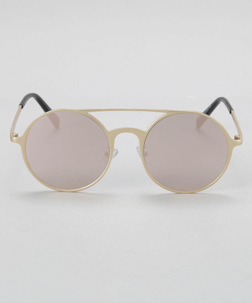 Óculos de sol redondo feminino oneself dourado ceacollections jpg 1000x1200 Oculos  redondo dourado feminino 9c89322e7e