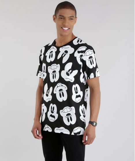 Camiseta-Estampada-Mickey-Preta-8581542-Preto 1 ... aec106cdaeab4