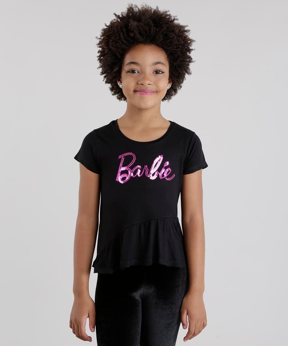 9ae4b0a1c4 ... Blusa-Barbie-com-Paete-Preta-8680676-Preto 1