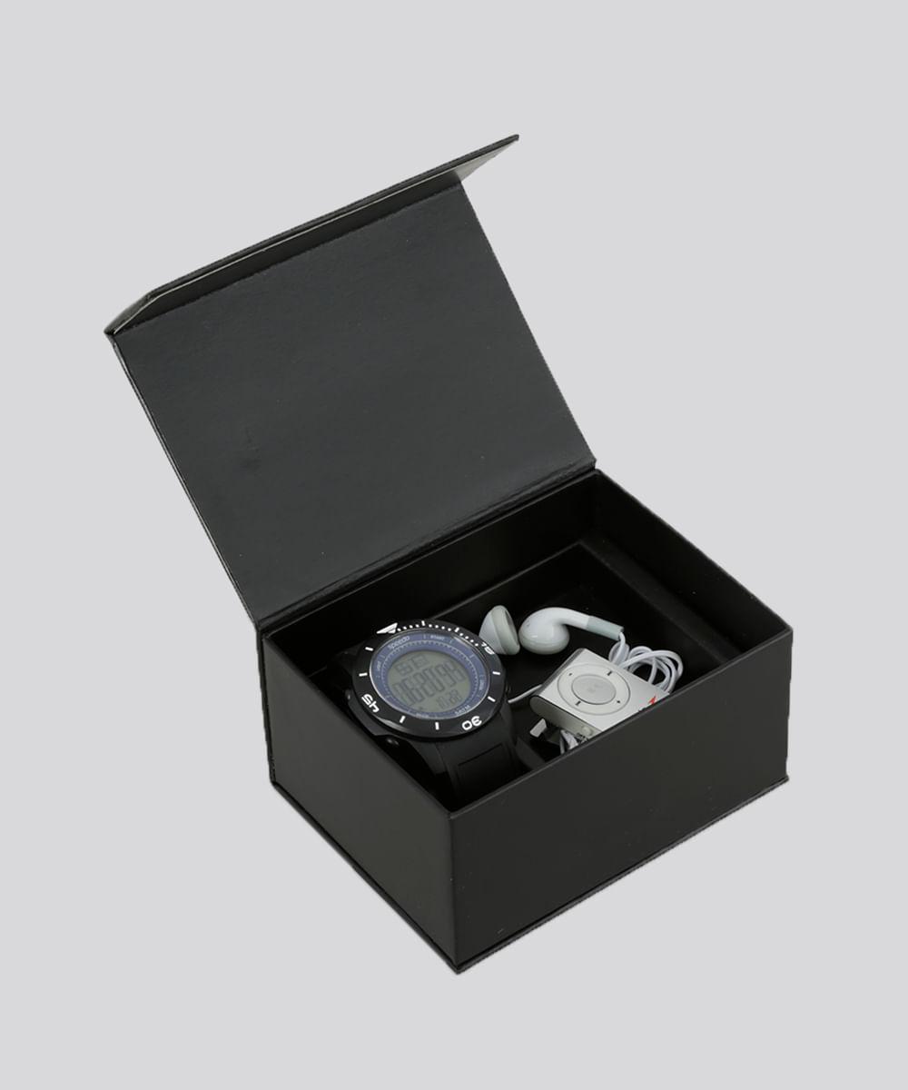 a0c1661f5 Kit de Relógio Speedo Masculino Digital + MP3 + Fone de Ouvido ...