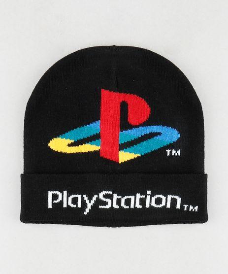 Gorro-Infantil-PlayStation-em-Trico-Preto-9785293-Preto_1
