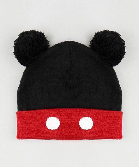 Gorro-Infantil-Mickey-com-Pompom-em-Trico-Preto-9785286-Preto_1