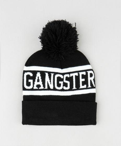 Gorro-Masculino--Gangster--em-Trico-com-Pompom-e-Barra-Dobrada-Preto-9801871-Preto_1
