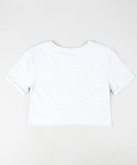 Blusa-Infantil-Cropped--Girl-Power--Manga-Curta-Cinza-Mescla-Claro-9888017-Cinza_Mescla_Claro_2