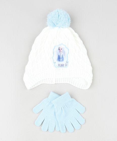 Kit-Infantil-de-Gorro-Elsa-Frozen-com-Pompom-Off-White---Luva-em-Trico-Azul-Claro-9784988-Azul_Claro_1
