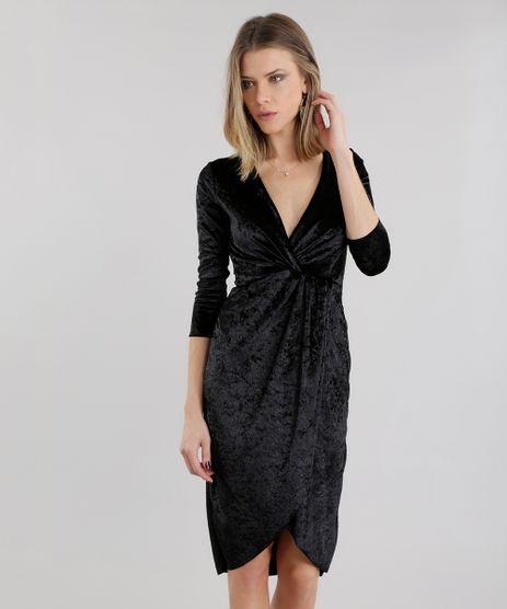Vestido-em-Veludo-Molhado-Preto-8658111-Preto_1