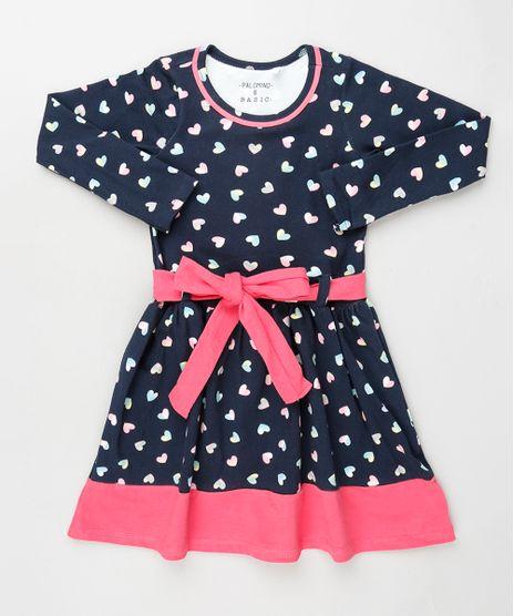 Vestido-Infantil-Estampado-de-Coracoes-com-Recorte-e-Faixa-para-Amarrar-Manga-Longa-Azul-Marinho-9922774-Azul_Marinho_1