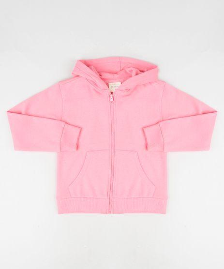 Blusao-Infantil-Basico-em-Moletom-com-Capuz-e-Bolsos-Rosa-9798156-Rosa_1