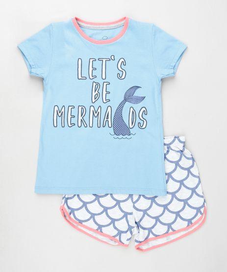 Pijama-Infantil-Sereia--Let-s-Be-Mermaids--Manga-Curta-Azul-Claro-9879741-Azul_Claro_1