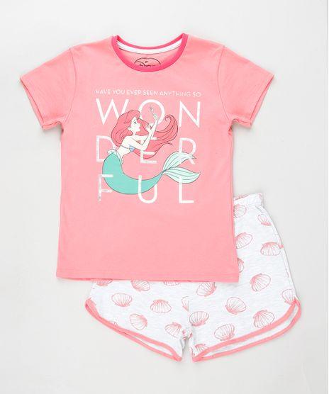 Pijama-Infantil-Pequena-Sereia-Ariel-Manga-Curta-Rosa-9879744-Rosa_1
