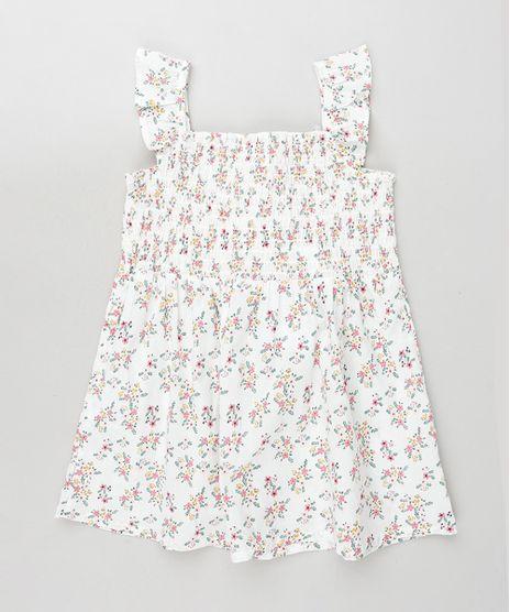 Vestido-Infantil-Estampado-Floral-com-Lastex-e-Babado-Alca-Media-Branco-9796108-Branco_1