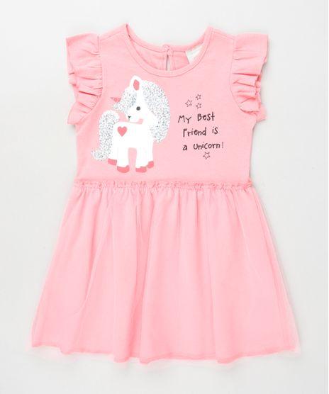 Vestido-Infantil-Unicornio-com-Paetes-Babado-na-Manga-Rosa-9939698-Rosa_1