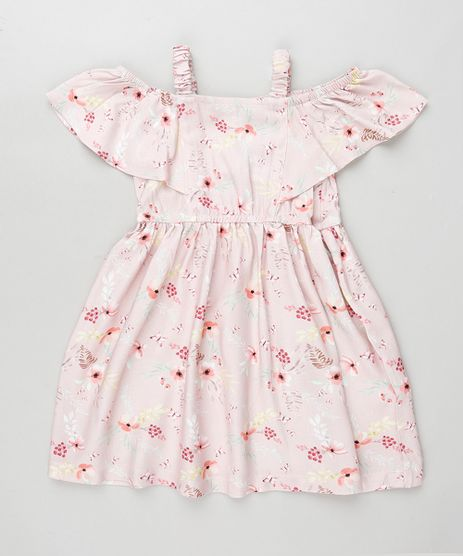 Vestido-Infantil-Open-Shoulder-Estampado-Floral-Manga-Curta-Rosa-Claro-9906262-Rosa_Claro_1