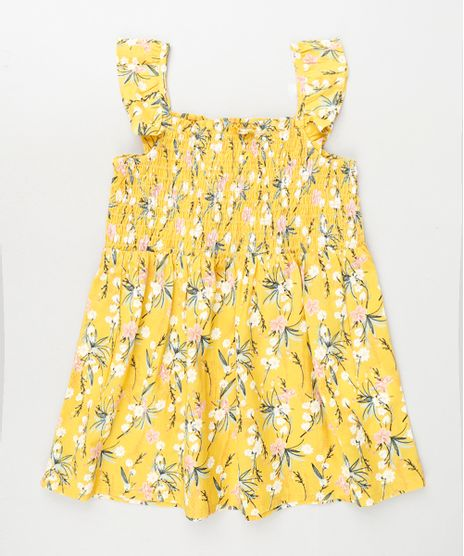 Vestido-Infantil-Estampdo-Floral-com-Babado-e-Lastex-Amarelo-9796105-Amarelo_1