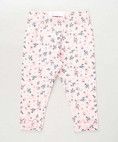 Calca-Legging-Infantil-Estampada-Floral-com-Laco-Rosa-9942212-Rosa_1