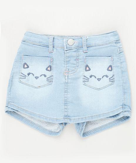 Short-Saia-Jeans-Infantil-Gatinho-com-Bolsos-Azul-Claro-9933307-Azul_Claro_1